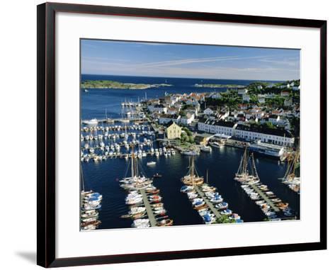 Risor, White Town on the Skagerrak, South Coast, Norway, Scandinavia, Europe-Gavin Hellier-Framed Art Print