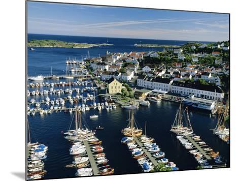 Risor, White Town on the Skagerrak, South Coast, Norway, Scandinavia, Europe-Gavin Hellier-Mounted Photographic Print