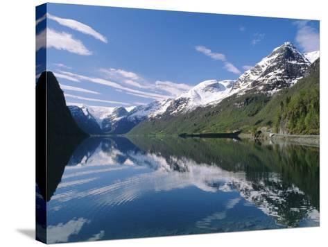 Tranquil Scene Near Olden, Oldevatnet Lake, Western Fjords, Norway, Scandinavia, Europe-Gavin Hellier-Stretched Canvas Print