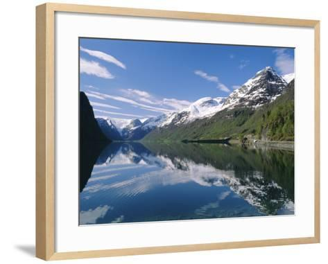Tranquil Scene Near Olden, Oldevatnet Lake, Western Fjords, Norway, Scandinavia, Europe-Gavin Hellier-Framed Art Print