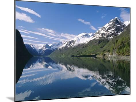 Tranquil Scene Near Olden, Oldevatnet Lake, Western Fjords, Norway, Scandinavia, Europe-Gavin Hellier-Mounted Photographic Print
