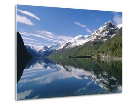 Tranquil Scene Near Olden, Oldevatnet Lake, Western Fjords, Norway, Scandinavia, Europe-Gavin Hellier-Metal Print