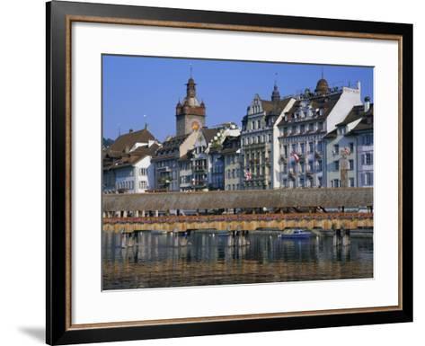 Kapellbrucke, Covered Wooden Bridge, Over the River Reuss, Lucerne (Luzern), Switzerland, Europe-Gavin Hellier-Framed Art Print