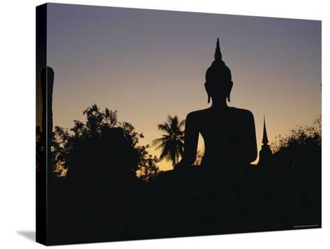Buddha Statue in the Historical Park, Old Sukothai / Muang Kao, Sukothai, Thailand, Asia-Gavin Hellier-Stretched Canvas Print