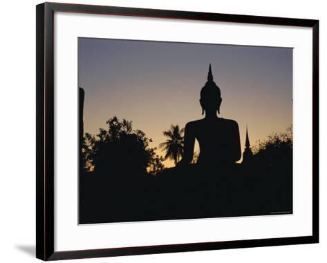 Buddha Statue in the Historical Park, Old Sukothai / Muang Kao, Sukothai, Thailand, Asia-Gavin Hellier-Framed Art Print