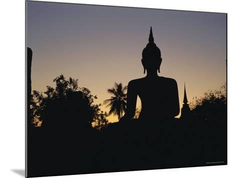 Buddha Statue in the Historical Park, Old Sukothai / Muang Kao, Sukothai, Thailand, Asia-Gavin Hellier-Mounted Photographic Print