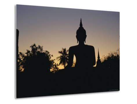 Buddha Statue in the Historical Park, Old Sukothai / Muang Kao, Sukothai, Thailand, Asia-Gavin Hellier-Metal Print