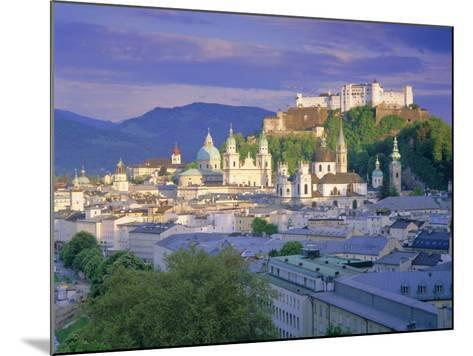 Elevated View of the Old City, Kollegienkirche and Cathedral Domes, Salzburg, Tirol, Austria-Gavin Hellier-Mounted Photographic Print