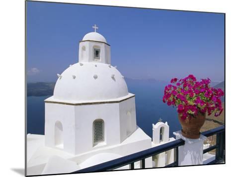 Greek Orthodox Church in Thira, Santorini, Cyclades Islands, Greece-Gavin Hellier-Mounted Photographic Print