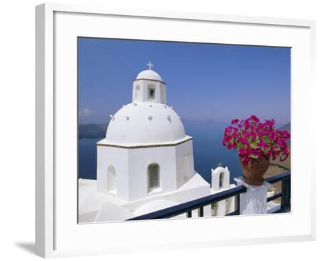 Greek Orthodox Church in Thira, Santorini, Cyclades Islands, Greece-Gavin Hellier-Framed Art Print