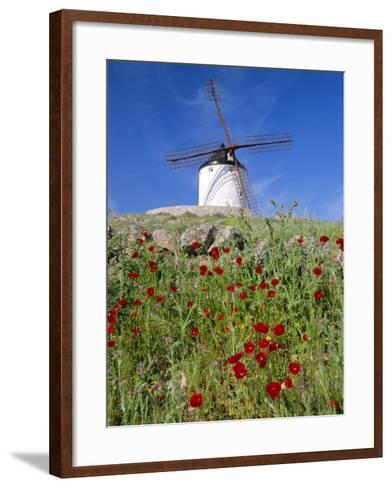 Windmill in Consuegra, Castilla La Mancha, Spain-Gavin Hellier-Framed Art Print