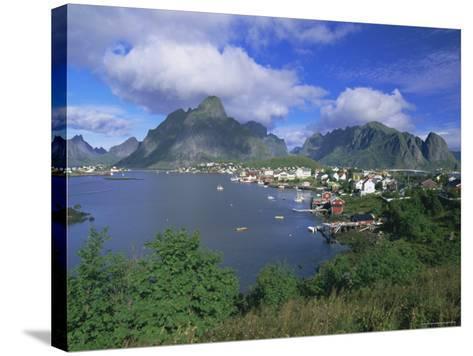 Village of Reine on Moskenesoya, Lofoten Islands, Nordland, Norway, Scandinavia, Europe-Gavin Hellier-Stretched Canvas Print