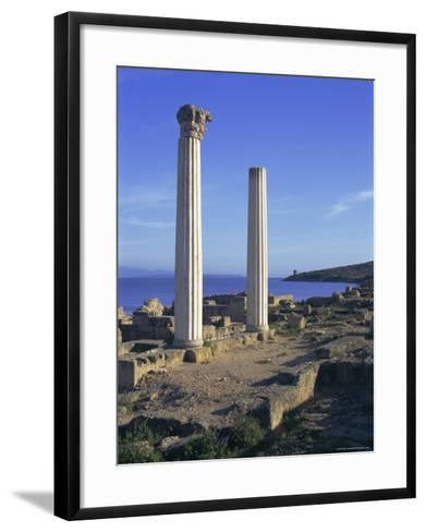 Punic/Roman Ruins of City Founded by Phoenicians in 730 BC, Tharros, Sardinia, Italy, Europe-Sheila Terry-Framed Art Print