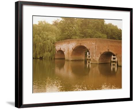 The 18th Century Sonning Bridge Over the River Thames Near Reading, Berkshire, England, UK-David Hughes-Framed Art Print