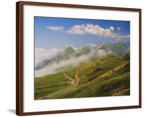 View from Col d'Aubisque, Pyrenees-Atlantique, Pyrenees, Aquitaine, France, Europe-David Hughes-Framed Art Print