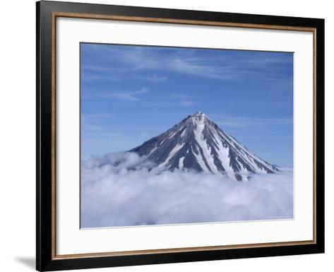 Koryaksky Volcano, 3456M High, Conical Andesite Volcano, Kamchatka, East Siberia, Russia-Anthony Waltham-Framed Art Print