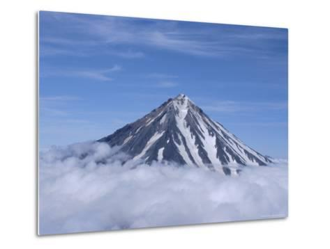 Koryaksky Volcano, 3456M High, Conical Andesite Volcano, Kamchatka, East Siberia, Russia-Anthony Waltham-Metal Print