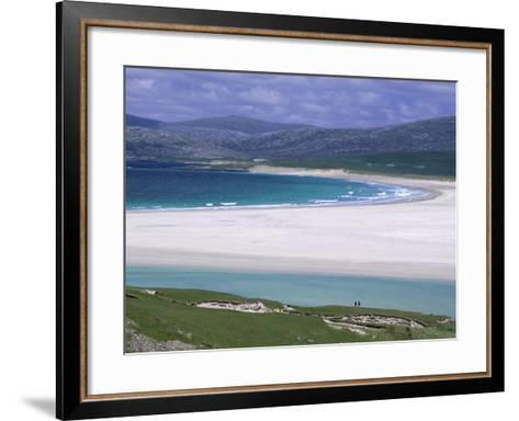 White Shell-Sand, Scarasta Beach, North West Coast of South Harris, Outer Hebrides, Scotland, UK-Anthony Waltham-Framed Art Print