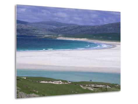 White Shell-Sand, Scarasta Beach, North West Coast of South Harris, Outer Hebrides, Scotland, UK-Anthony Waltham-Metal Print
