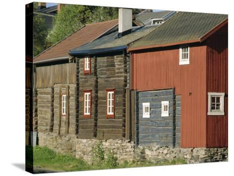 Preserved Miners' Houses, World Heritage Site of Roros, Trondelag, Norway, Scandinavia, Europe-Anthony Waltham-Stretched Canvas Print