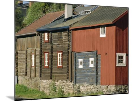 Preserved Miners' Houses, World Heritage Site of Roros, Trondelag, Norway, Scandinavia, Europe-Anthony Waltham-Mounted Photographic Print