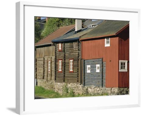 Preserved Miners' Houses, World Heritage Site of Roros, Trondelag, Norway, Scandinavia, Europe-Anthony Waltham-Framed Art Print