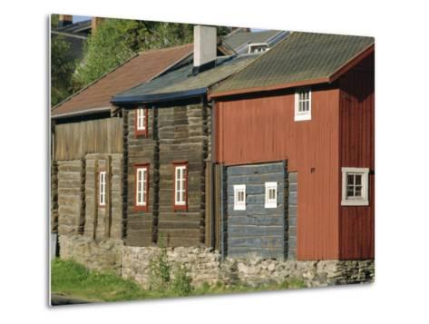 Preserved Miners' Houses, World Heritage Site of Roros, Trondelag, Norway, Scandinavia, Europe-Anthony Waltham-Metal Print