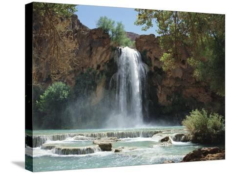 Harasu Falls, Grand Canyon, Arizona, USA-Anthony Waltham-Stretched Canvas Print