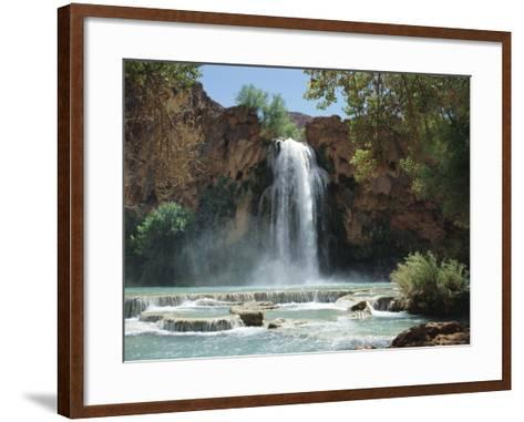 Harasu Falls, Grand Canyon, Arizona, USA-Anthony Waltham-Framed Art Print