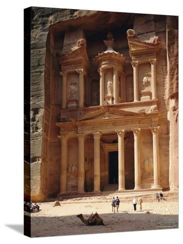 The Treasury, Rock Cut Building Dating from Nabatean Times, Petra, Jordan-G Richardson-Stretched Canvas Print