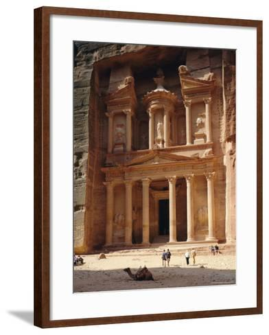The Treasury, Rock Cut Building Dating from Nabatean Times, Petra, Jordan-G Richardson-Framed Art Print