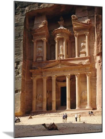 The Treasury, Rock Cut Building Dating from Nabatean Times, Petra, Jordan-G Richardson-Mounted Photographic Print