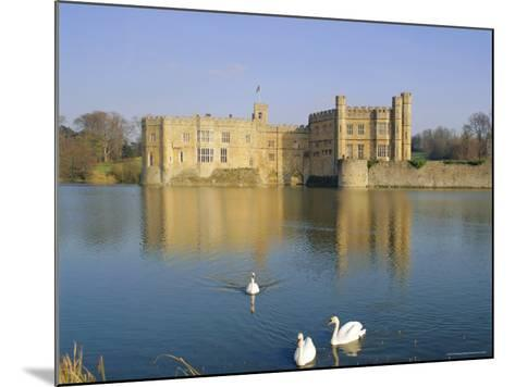 Swans in Front of Leeds Castle, Kent, England-G Richardson-Mounted Photographic Print