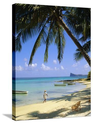Beach, Cap Malheureux, Mauritius-G Richardson-Stretched Canvas Print