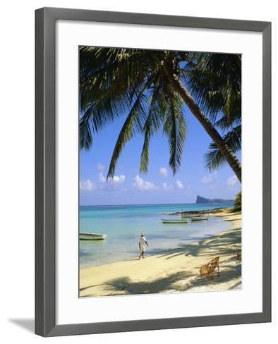 Beach, Cap Malheureux, Mauritius-G Richardson-Framed Art Print