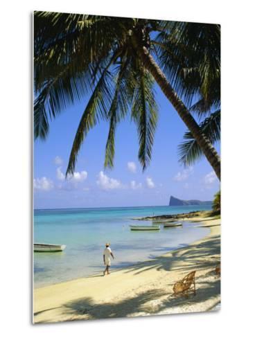 Beach, Cap Malheureux, Mauritius-G Richardson-Metal Print