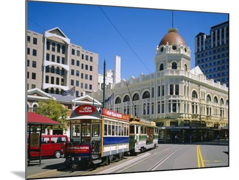 Tram in Cathedral Square, Christchurch, New Zealand, Australasia-Rolf Richardson-Mounted Photographic Print