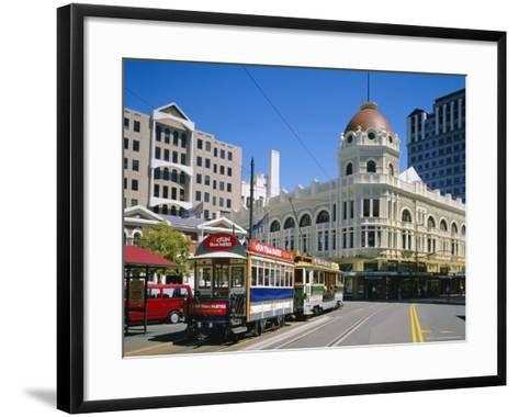 Tram in Cathedral Square, Christchurch, New Zealand, Australasia-Rolf Richardson-Framed Art Print