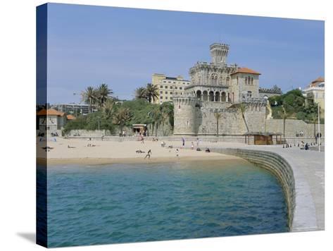The Beach, Estoril,Costa De Lisboa, Portugal, Europe-G Richardson-Stretched Canvas Print