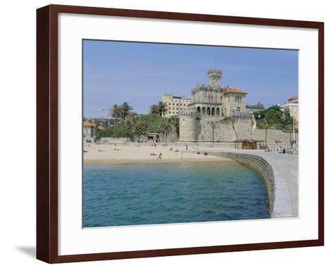 The Beach, Estoril,Costa De Lisboa, Portugal, Europe-G Richardson-Framed Art Print