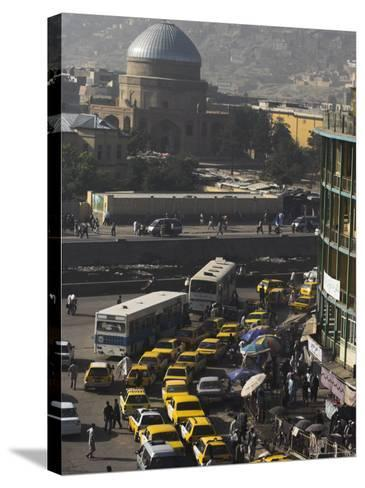 Early Morning Traffic, Central Area, Kabul, Afghanistan, Asia-Jane Sweeney-Stretched Canvas Print