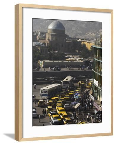 Early Morning Traffic, Central Area, Kabul, Afghanistan, Asia-Jane Sweeney-Framed Art Print