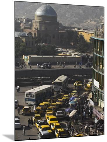 Early Morning Traffic, Central Area, Kabul, Afghanistan, Asia-Jane Sweeney-Mounted Photographic Print