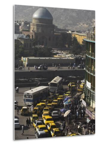 Early Morning Traffic, Central Area, Kabul, Afghanistan, Asia-Jane Sweeney-Metal Print