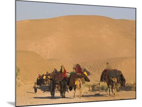 Kuchie Nomad Camel Train, Between Chakhcharan and Jam, Afghanistan, Asia-Jane Sweeney-Mounted Photographic Print
