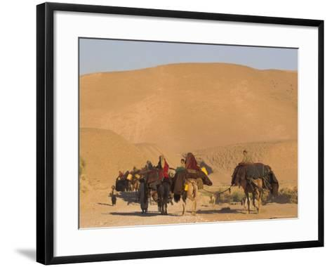 Kuchie Nomad Camel Train, Between Chakhcharan and Jam, Afghanistan, Asia-Jane Sweeney-Framed Art Print