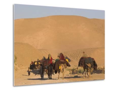 Kuchie Nomad Camel Train, Between Chakhcharan and Jam, Afghanistan, Asia-Jane Sweeney-Metal Print
