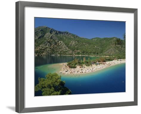 Olu Deniz, Lagoon Beach, Turkey, Eurasia-Lee Frost-Framed Art Print