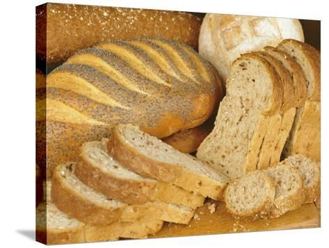 Bread Loaves and Slices of Bread-Lee Frost-Stretched Canvas Print