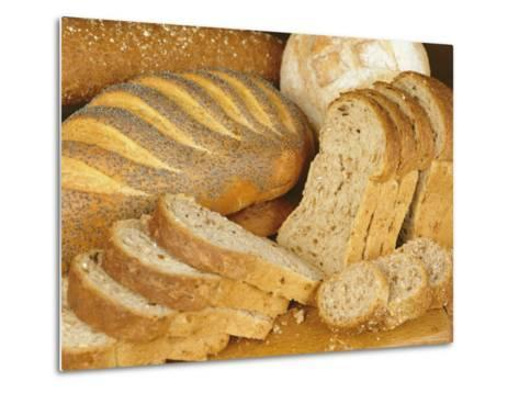 Bread Loaves and Slices of Bread-Lee Frost-Metal Print
